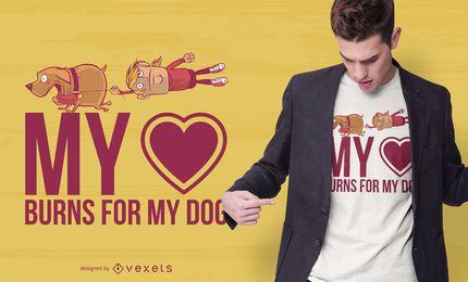 Ame meu design do t-shirt das citações do cão