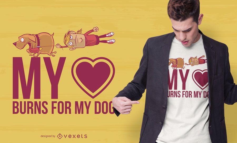 Liebe mein Hundezitat-T-Shirt Entwurf