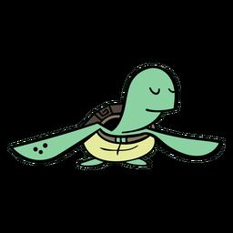 Cartoon Schildkröte Charakter