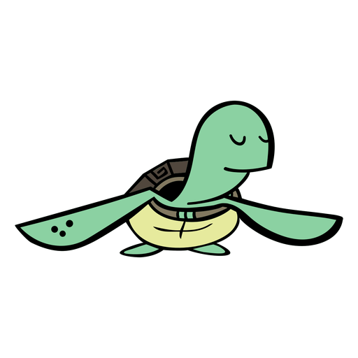 Cartoon turtle character Transparent PNG