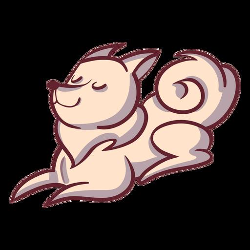 Dog character sleeps