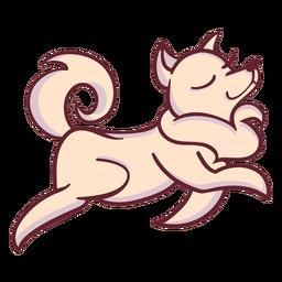 Personagem de cachorro anda elegante