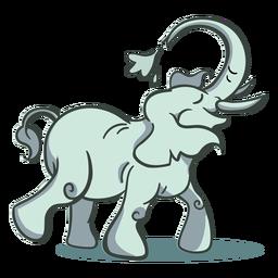 Elefante personagem verde elegante