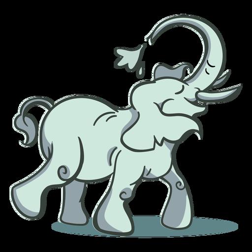 Elefante personaje verde elegante Transparent PNG