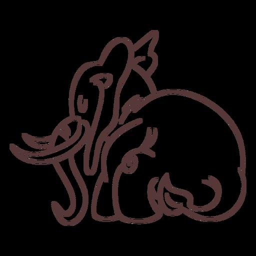 Elephant character sleep stylish