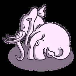 Grey elephant sleeps stylish