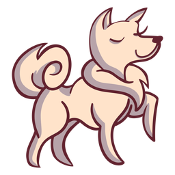 Perro feliz personaje elegante