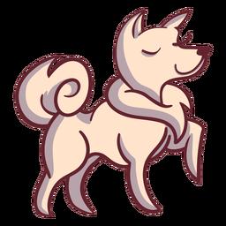 Personagem de cachorro feliz elegante