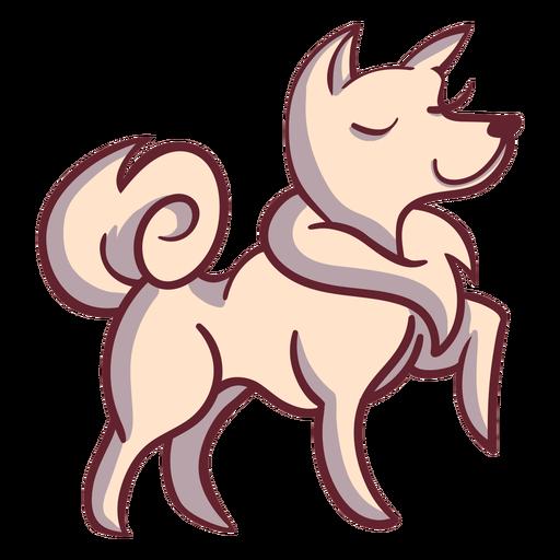Happy dog character stylish
