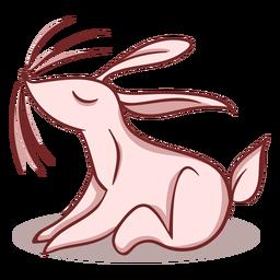 Personaje elegante conejo