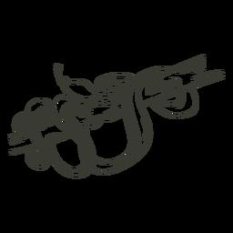 Snake character stroke stylish