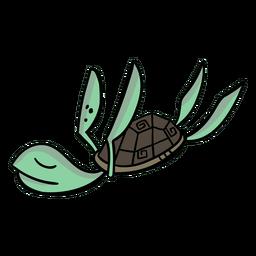 Turtle Charakter schläft stilvoll