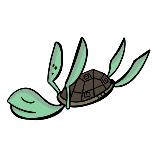 Turtle character sleeps stylish Transparent PNG