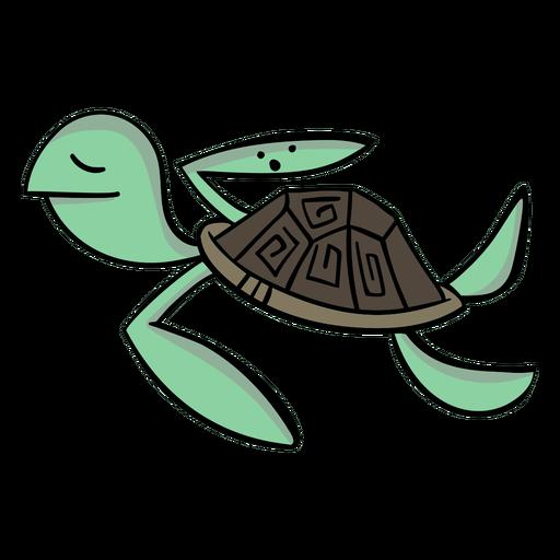 Turtle character stylish cartoon