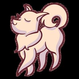 Personagem elegante cachorro ambulante