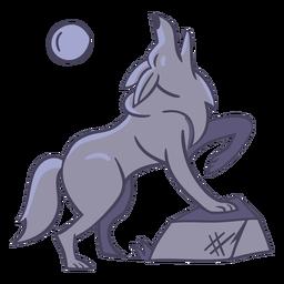 Luna personaje lobo elegante