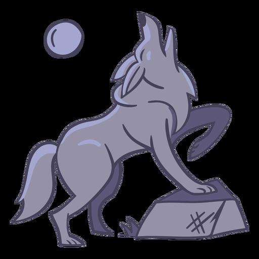 Lua de personagem lobo elegante Transparent PNG