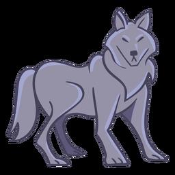 Personagem de lobo elegante