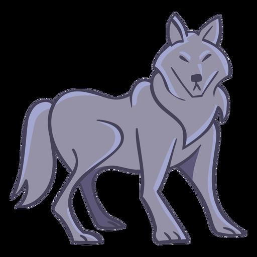 Wolf character stylish