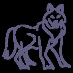 Carácter de lobo estilo trazo