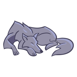 Wolf stylish character sleeping
