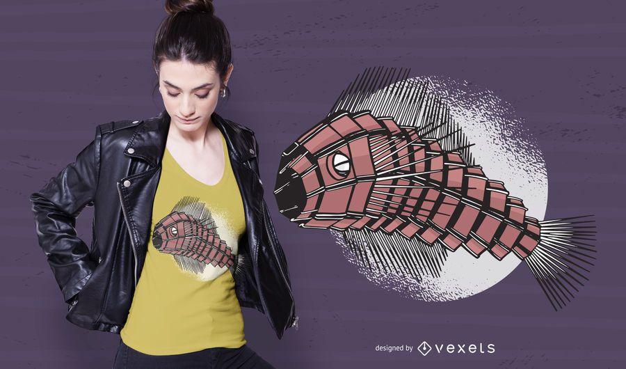 Robot Fish T-shirt Design