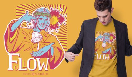 Trippy Jesus-T-Shirt Entwurf