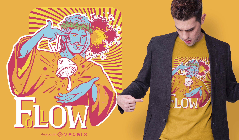 Diseño de camiseta Trippy Jesus