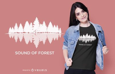 Design de camiseta Forest Sound