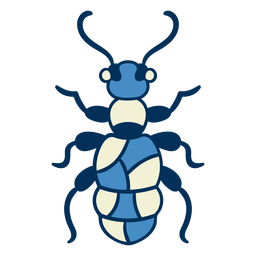 Blue ant insect icon