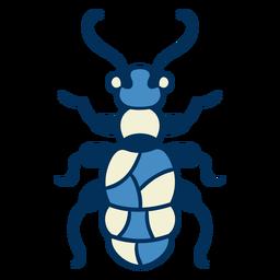 Icono de insecto hormiga azul