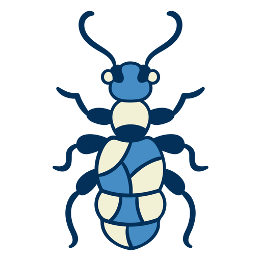 Icono de insecto hormiga azul Transparent PNG