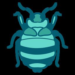 Blaue Käfer Insektensymbol