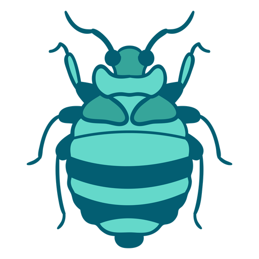 Blue beetle insect icon