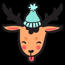 Lindo gorro marrón con cabeza de ciervo