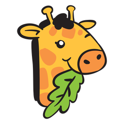 Cute giraffe head eating