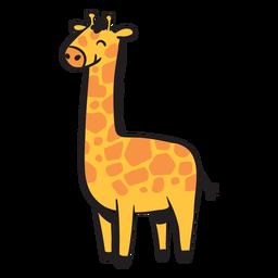 Linda jirafa sonriendo
