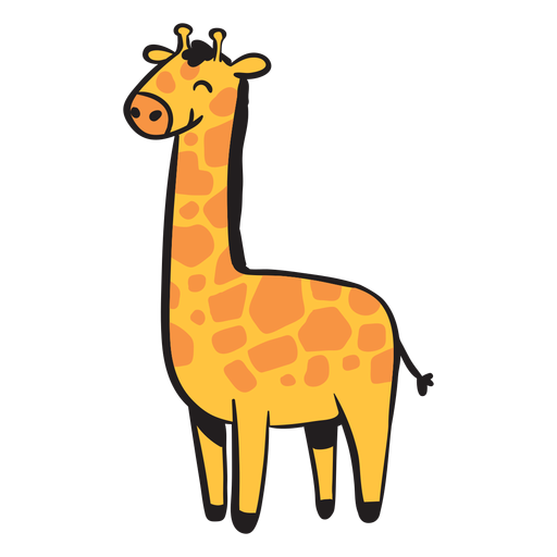 Cute Giraffe Smiling Transparent Png Svg Vector File