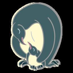 Pinguim pai filhote