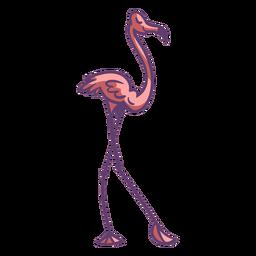 Flamenco rosado posando