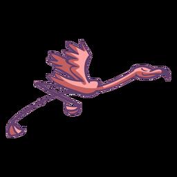 Pink flamingo running