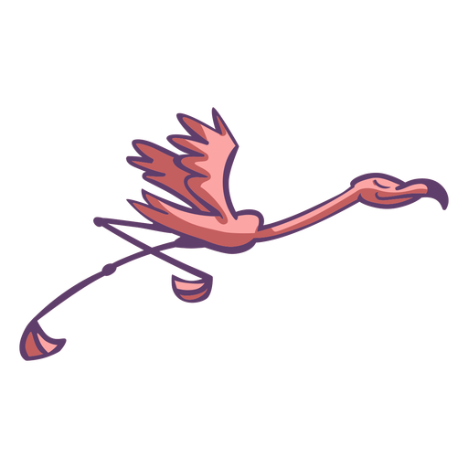 Flamenco rosado corriendo Transparent PNG