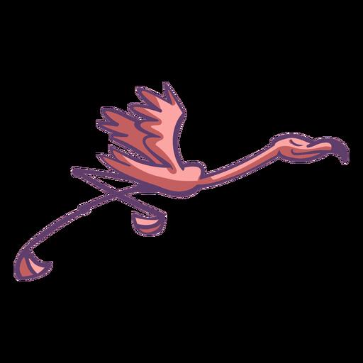 Flamenco rosado corriendo