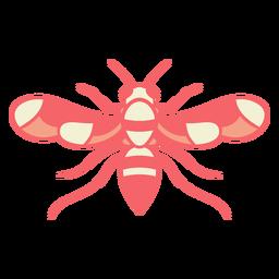 Asas de vespa vermelha abertas