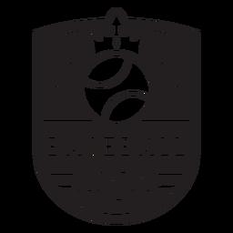 Baseball league crown badge