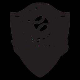 Emblema de luva do time de beisebol