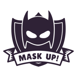Batman mask up badge