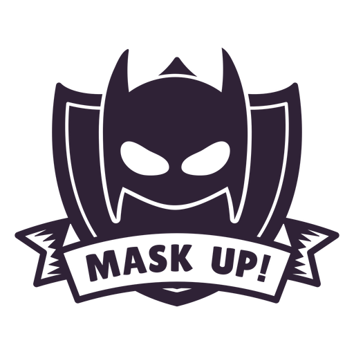 Batman mask up badge Transparent PNG