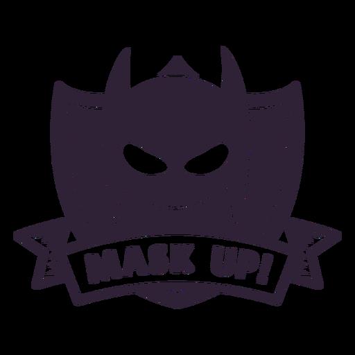 Batman mask up badge
