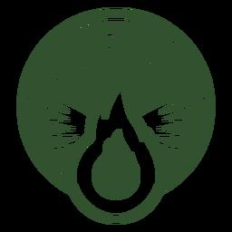 Campfire round badge